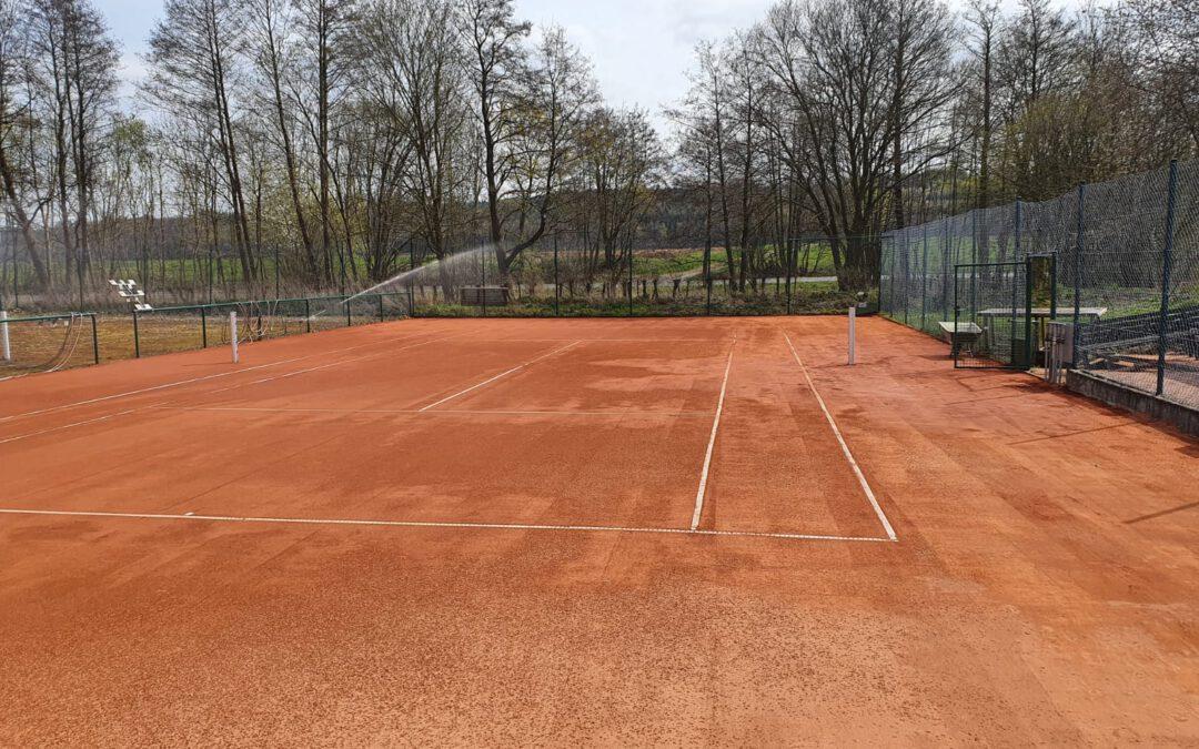 Tennisplatz wieder bespielbar