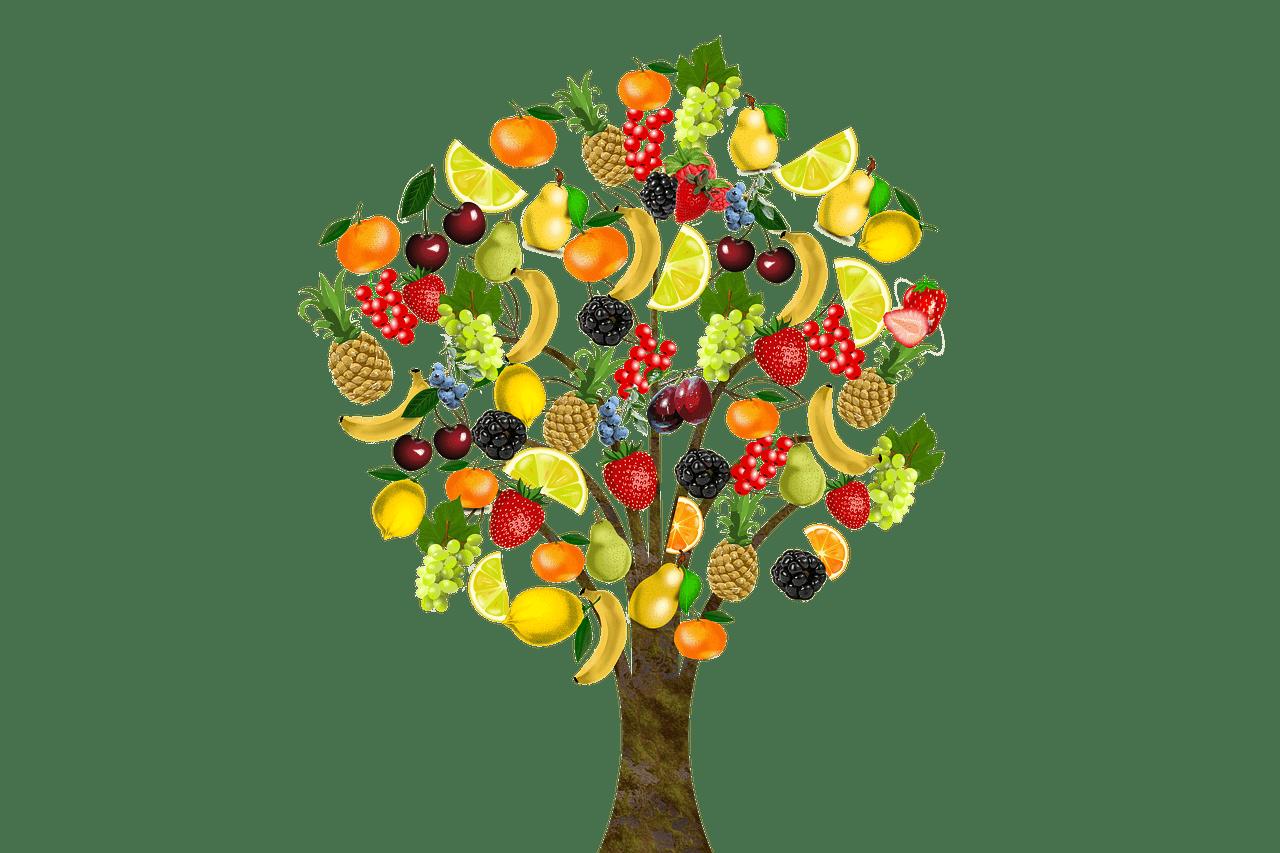 Surrealer Obstbaum